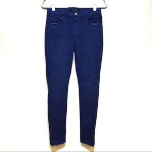 J Brand Vibrant Blue Super Skinny Jean